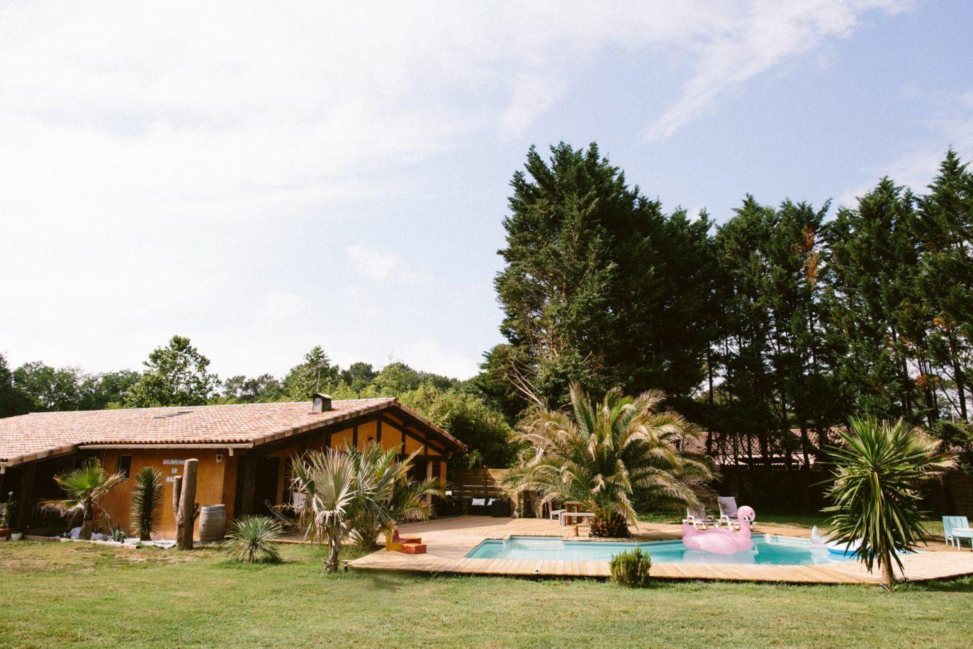 hacienda messanges maison d 39 h tes bed and breakfast avec piscine au coeur de la for t landaise. Black Bedroom Furniture Sets. Home Design Ideas