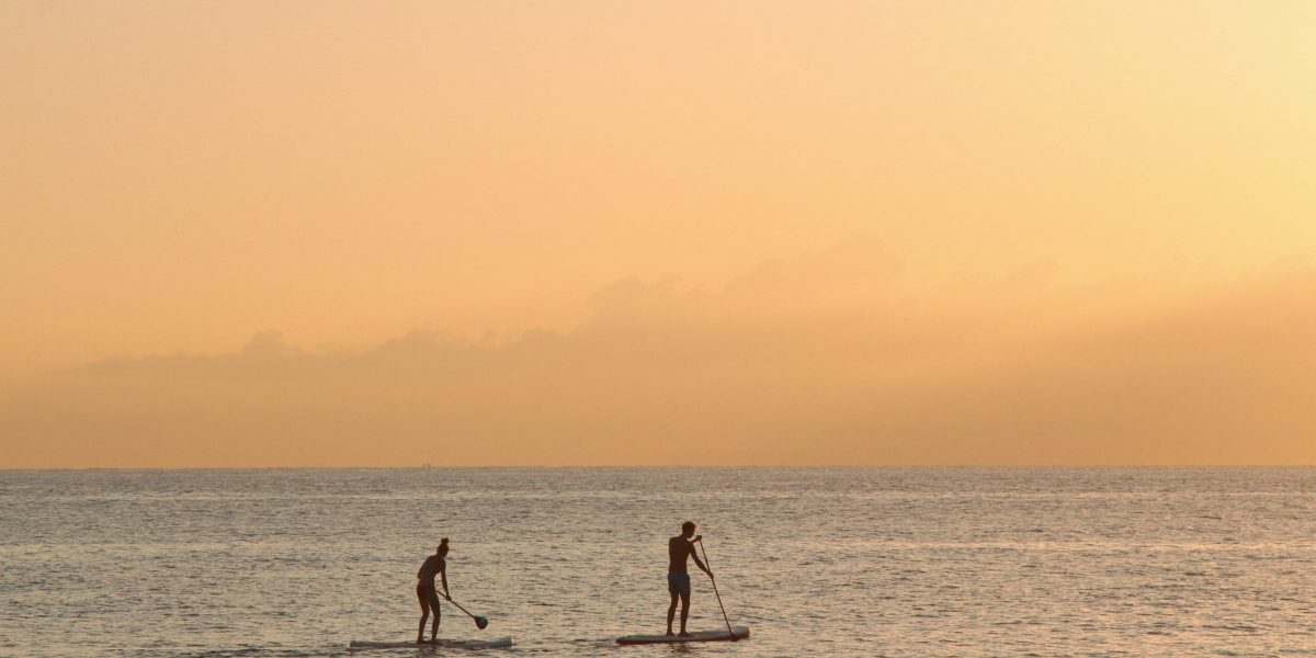 man-and-woman-paddle-boarding-at-sea-2885904