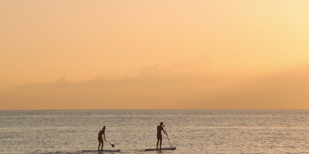man-and-woman-paddle-boarding-at-sea-2885904